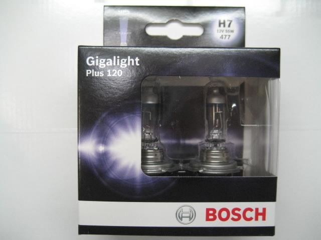 bosch h7 120 1987301107 gigalight plus 12v 55w 2. Black Bedroom Furniture Sets. Home Design Ideas